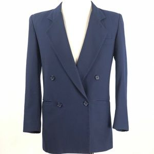 Christian Dior Womens Size 10 Navy Blue Blazer
